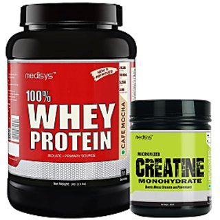 Medisys Muscle Gain Combo Cafe Mocha Whey Protein 1Kg+Creatine