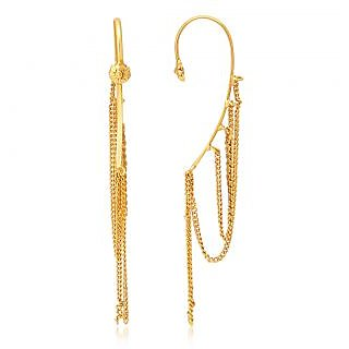 Sukkhi Gold Plated Gold Brass & Copper Cuff Earrings for Women