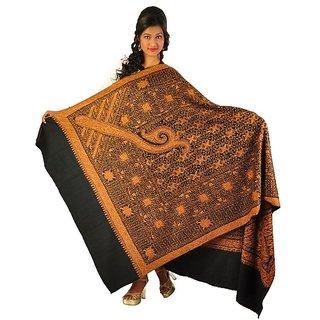 Pashmina Impressive Kashmiri Multicolor Emroidered Shawl Wrap