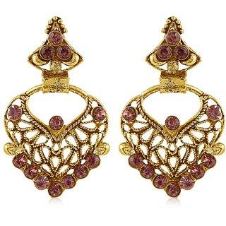 Sukkhi Gold Plated Brass & Copper Dangle Earrings For Women