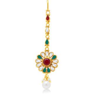 Sukkhi Gold Plated Gold Brass & Copper Maang Tikka for Women