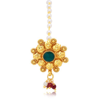 Sukkhi Gold Plated Gold Brass & Copper Maang Tikka for Women