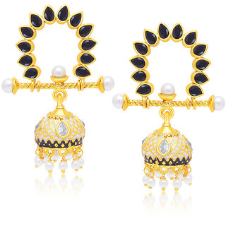 Sukkhi Gold Plated Gold Brass & Copper Jhumkis for Women