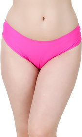 Fasense Pink Solid Hipster Panty