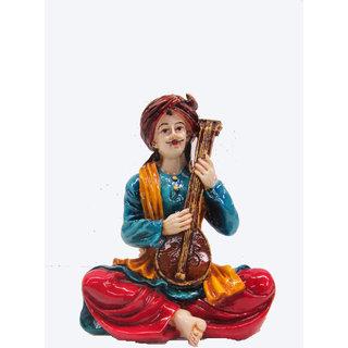 Earth Veena Man Rajasthani Musician Statue