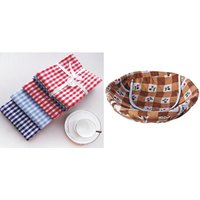 Aravi 3Pcs. Kitchen Napkin + 1 Roti Basket