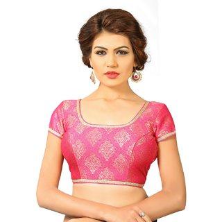 Navtamvamas Pink Brocade Stitched Blouse