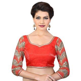 1fc0d912a3c6ba Buy Navtamvamas Red Dupion Silk Stitched Blouse Online - Get 20% Off
