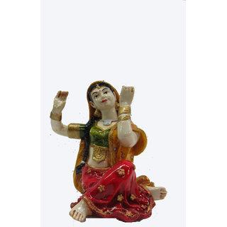Earth Sitting Dancing Rajasthani Lady Statue