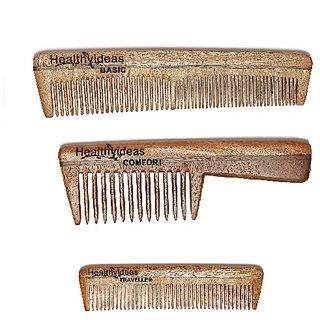 Healthy Ideas Sets of 3 neem wood comb