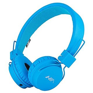 SODEE Folding Stereo Wired Headphones For Kids,Girls Headphones,Boys Headphone,In-line Microphone Remote Control Over ear Headphone with Soft Earpads for Cellphones PC Gaming Devices(Blue)