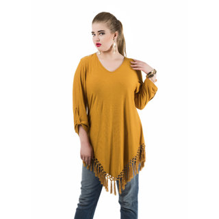 85499740fc Buy Qurvii Multicolor Plain V-Neck Basic For Women Online - Get 50% Off