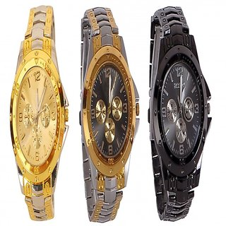 Rosra Combo Watch (Pack of 3 Watch (Colour Assorted)