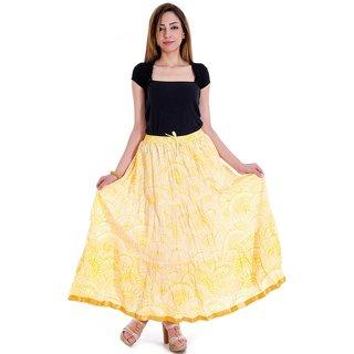 Chesta Regular Yellow Printed Women's Skirt
