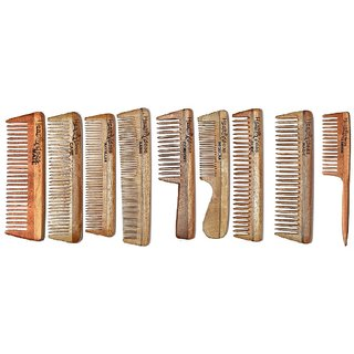 Healthy Ideas  Complete Care  Combo Set  of 9 Neem wood Comb
