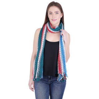 iLiv Multicolor Floral Viscose Women's Shawl