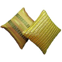 Houz Of KS Set Of 2 Green Stones Cushion Covers