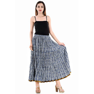Chesta Regular Blue Printed Women's Skirt