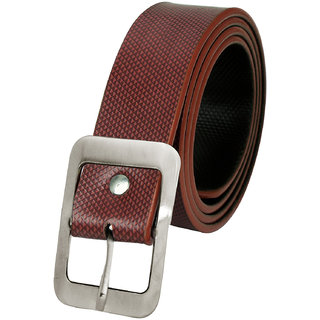 Brown Leatherite Mens Belt