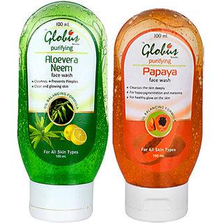 Globus PAPAYA  ALOEVERA NEEM Face Wash