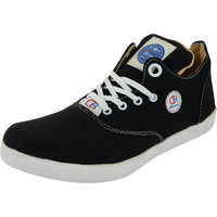 Chamois Men Black Lace-Up Casual Sneakers