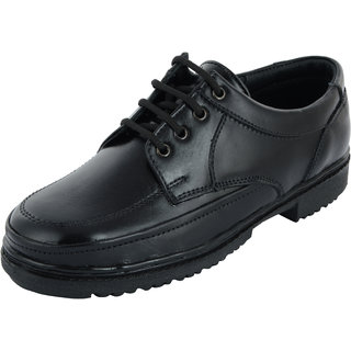Chamois Men Black Lace-Up Leather Formals