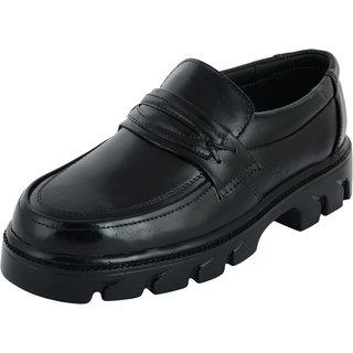 Chamois Men Black Slip-On Leather Formals
