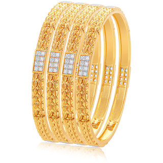 Sukkhi Gold Plated Gold Alloy Bangles for Women