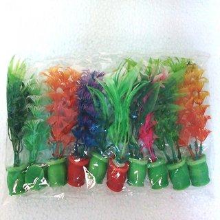 Aquarium New Artificial / Plastic Plant for Decoration - 4 Size -10 Pieces