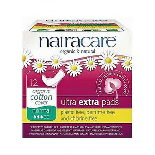 Natracare Organic and Natural Ultra Extra Pads With Wings - Normal (12/Pack)