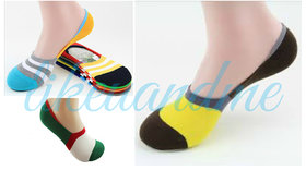 Mens-Loafer-Socks-3 Pairs-Fashion-Casual-Cotton-Socks-Invisible-Slippers-Shallow