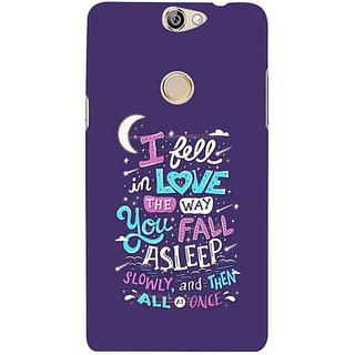 Fuson Designer Phone Back Case Cover Coolpad Max ( Love The Way You Sleep )