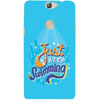 Fuson Designer Phone Back Case Cover Coolpad Max ( Just Keep Swimming Towards Shore )