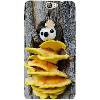Fuson Designer Phone Back Case Cover Coolpad Max ( Yellow Mushrooms With A Face )