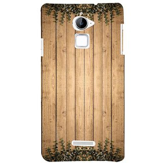 Fuson Designer Phone Back Case Cover Coolpad Note 3 Lite :: Coolpad Note 3 Lite Dual SIM ( Wood Table With Leaves )