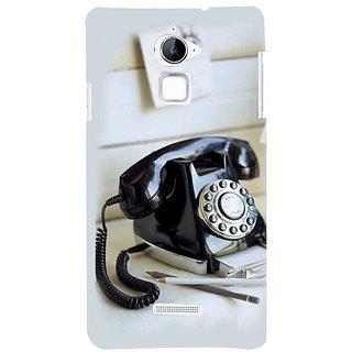Fuson Designer Phone Back Case Cover Coolpad Note 3 Lite :: Coolpad Note 3 Lite Dual SIM ( A Black Telephone Set )