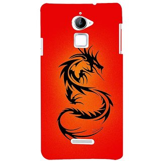 Fuson Designer Phone Back Case Cover Coolpad Note 3 Lite :: Coolpad Note 3 Lite Dual SIM ( The Curled Up Dragon )