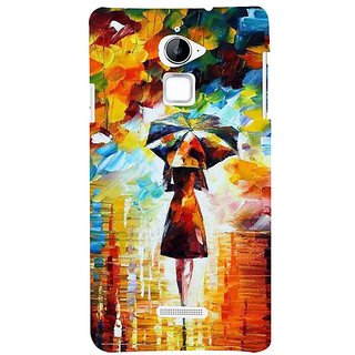 Fuson Designer Phone Back Case Cover Coolpad Note 3 Lite :: Coolpad Note 3 Lite Dual SIM ( Girl Walking With Her Umbrella )