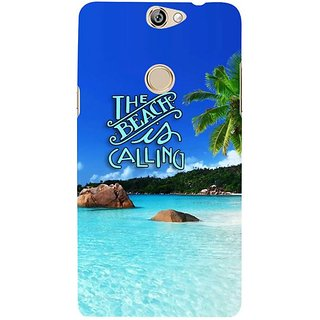 Fuson Designer Phone Back Case Cover Coolpad Max ( Holidaying By The Beach )