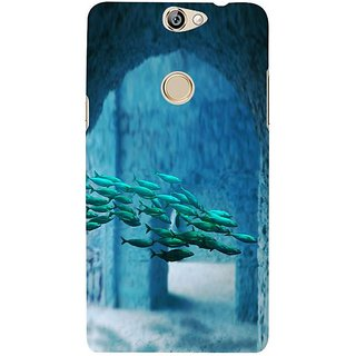 Fuson Designer Phone Back Case Cover Coolpad Max ( A School Of Fish )