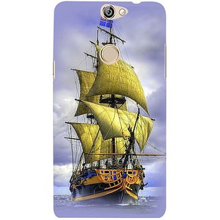 Fuson Designer Phone Back Case Cover Coolpad Max ( A Ship In The Ocean )