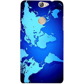 Fuson Designer Phone Back Case Cover Coolpad Max ( Map Of The World )