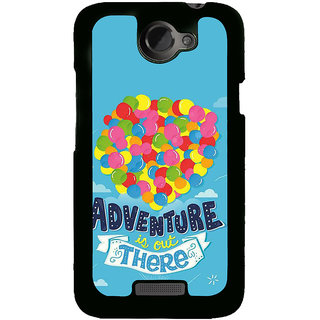 Fuson Designer Back Cover For HTC One X :: HTC One X+ :: HTC One X Plus :: HTC One XT (Balloons Colourful Ballons Adventure Time Sky House)