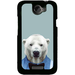 Fuson Designer Back Cover For HTC One X :: HTC One X+ :: HTC One X Plus :: HTC One XT (Bear Polar Bear White Bear Dressed Bear Fat Bear)