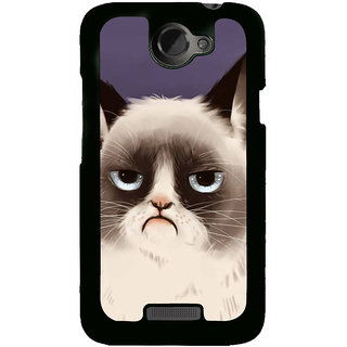 Fuson Designer Back Cover For HTC One X :: HTC One X+ :: HTC One X Plus :: HTC One XT (Cat Fluffy Cat Fat CAt Black Cat Grey Cat Cute CAt)