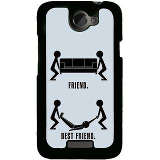 Fuson Designer Back Cover For HTC One X :: HTC One X+ :: HTC One X Plus :: HTC One XT (Friend Dost Best Friend Close Friend BFF)