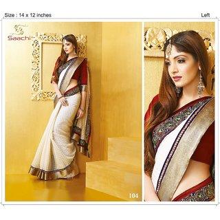 Saachi Thread Work Saree Ethnic With Design