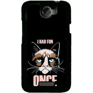 Fuson Designer Back Cover For HTC One X :: HTC One X+ :: HTC One X Plus :: HTC One XT (Cat Fluffy Cat Fat Cat Black Cat Grey Cat Cute CAt)
