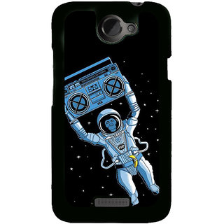 Fuson Designer Back Cover For HTC One X :: HTC One X+ :: HTC One X Plus :: HTC One XT (Tape Recorder Radio Space Monkey Astronaut)