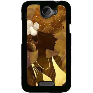 Fuson Designer Back Cover For HTC One X :: HTC One X+ :: HTC One X Plus :: HTC One XT (Brown Girl Gorgeous Girl Beautiful Girl Lovely Girl White Frock)